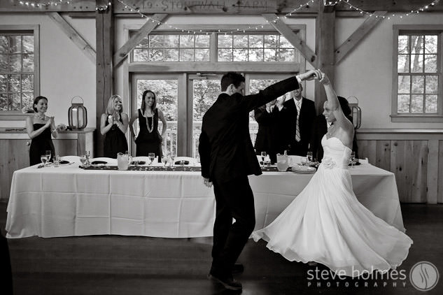 Reception Entrance Dance at Stonewall Farm