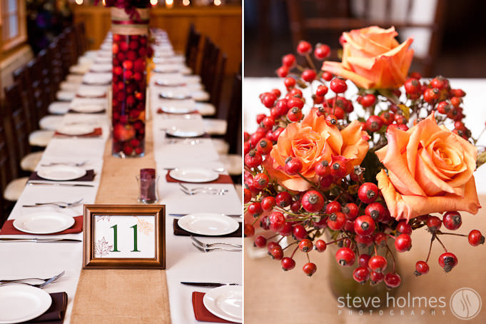Fall Decor for Autumn wedding