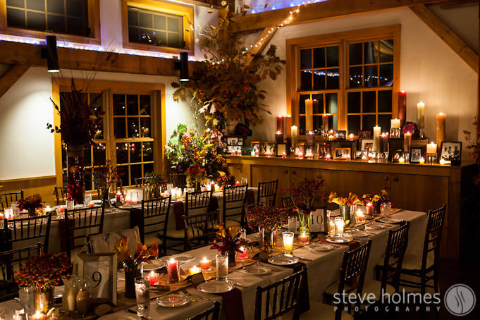 Warm fall wedding details at Stonewall Farm