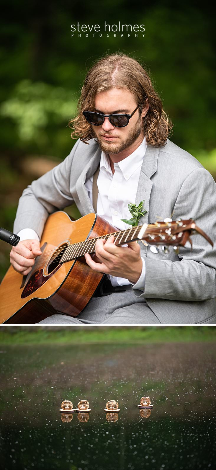 37_Groomsman in grey suit plays music for ceremony.jpg