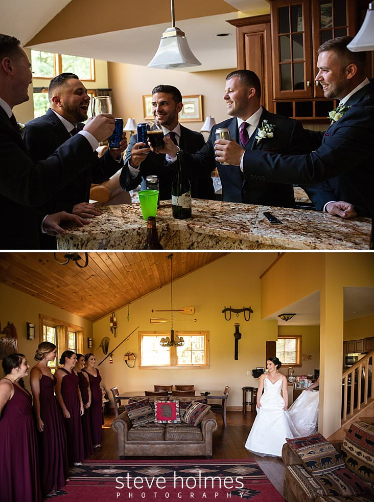 08_Groom and groomsmen share a drink together before wedding begins.jpg