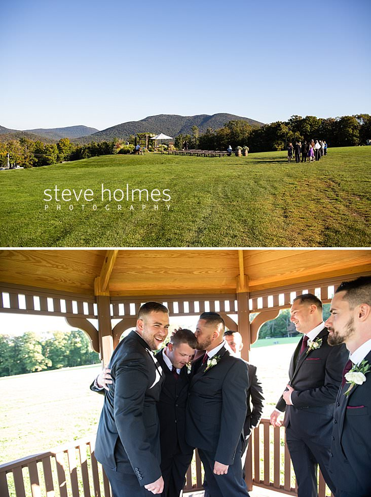 26_Guests arrive at outdoor wedding location at the Mountain Top Inn and Resort.jpg