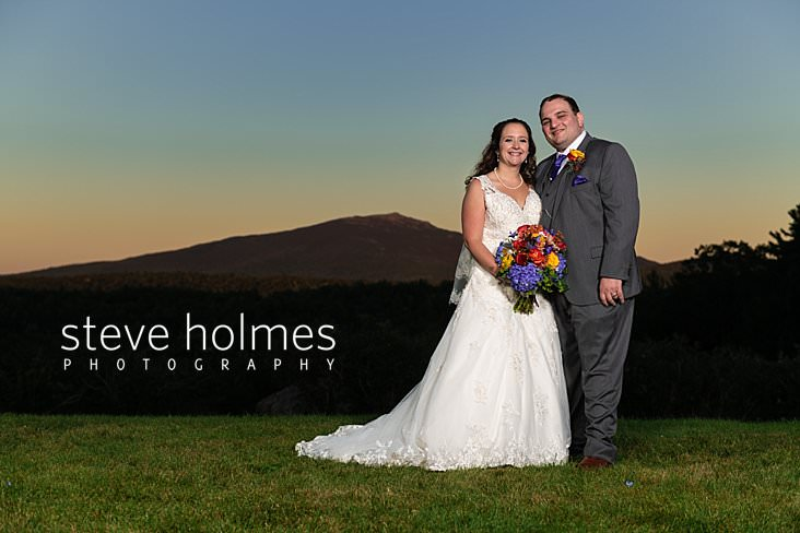 55_Portrait of bride and groom at sunset with Mt. Monadnock in background.jpg
