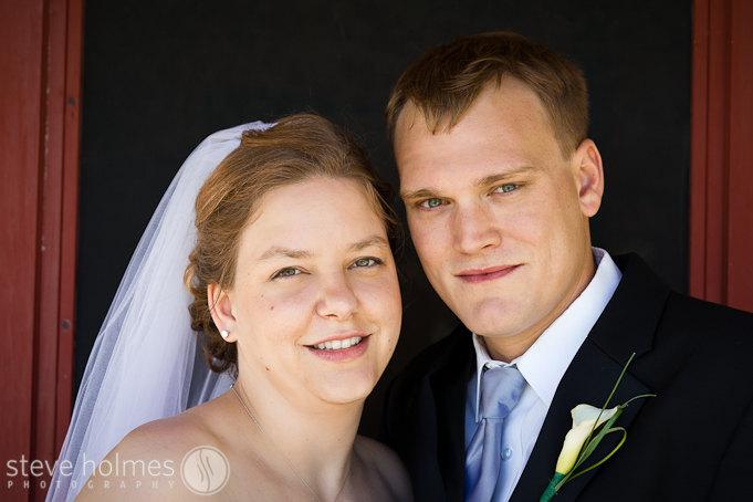 Vermont country wedding portrait.