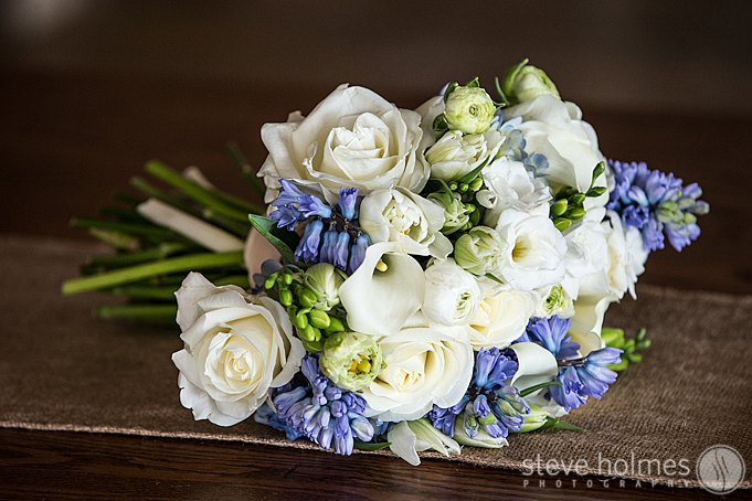 The beautiful bridal bouquet by A School House Garden.