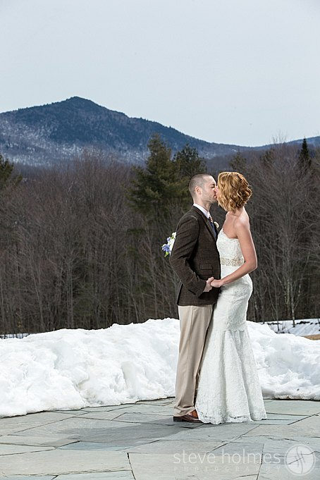 A private moment for the bride and groom at The Mountain Top Inn & Resort.