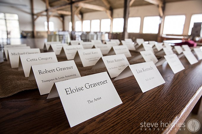 Their place cards included a unique description about each guest. It made for a great conversation starter!