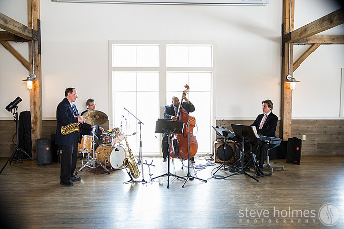 The Eric Nathan Quartet played beautiful music for the guests.