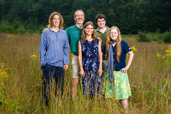 On-location family portrait in Vermont.