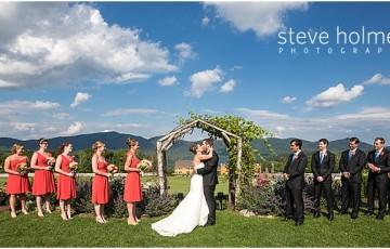 Rustic Mountain Top Inn Wedding Chittenden Vt
