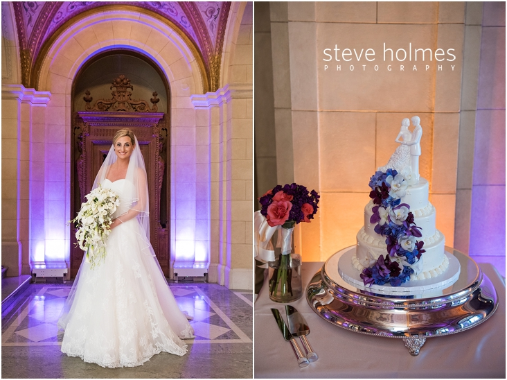 27_bride-standing-in-stone-archway-with-purple-lighting