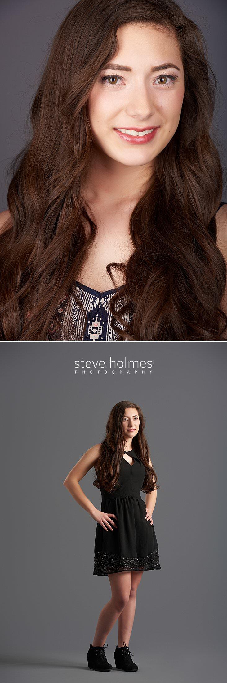 05_Close up studio senior portrait of teen girl with brown hair and brown eyes.jpg