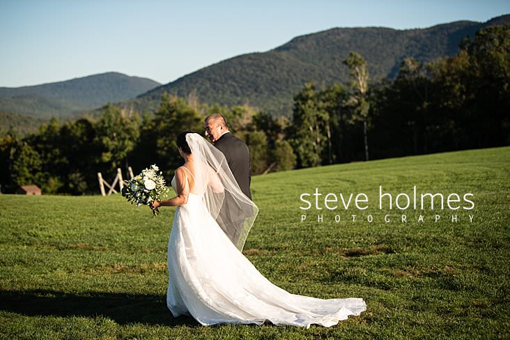 34_Bride walks with her father to ceremony at Mountain Top Inn and Resort.jpg