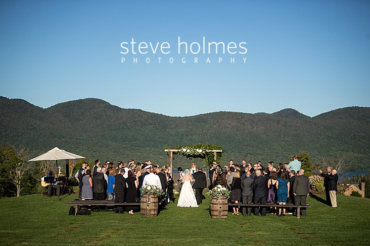 35_Father walks his daughter down the isle in outdoor ceremony at The Mountain Top Inn and Resort.jpg